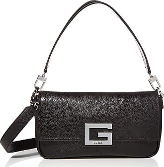 Guess Womens Brightside Shoulder Bag, Black, One Size