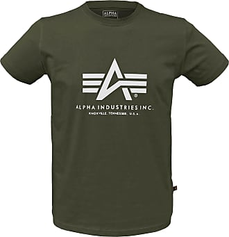 Alpha Industries Basic Alpha T-Shirt dark oliv, Größe XXL