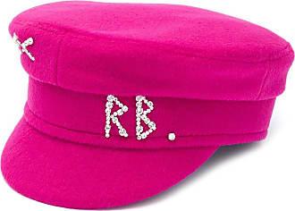 Ruslan Baginskiy rhinestone logo baker boy hat - Rosa