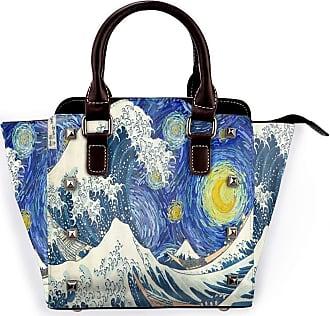 Browncin Moon Huge Ocean Waves On Starry Sky Background Detachable Fashion Trend Ladies Handbag Shoulder Bag Messenger Bags