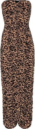 Norma Kamali Slinky leopard-print strapless dress