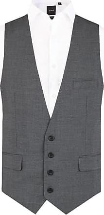 Dobell Mens Grey Sharkskin Waistcoat Slim Fit 4 Button-44