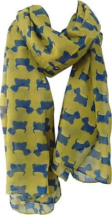 GlamLondon Scottie Dog Scarf Westie Dogs Breed West Highland Scottish Terrier Ladies Womens Wrap Shawl Sarong (Green Olive_527)(Size:L)