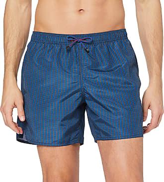 Emporio Armani Mens Boxer Swim Shorts, Multicoloured (Antracite/Blu/Blu 21242), Large (Manufacturer size: 52)