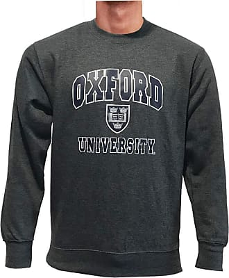 Oxford University Printed Sweatshirt Official Licensed Unisex Mens Womens Super Soft Sweater Black Top Jumper + One Free T-Shirt (M, Charcoal/Navy)