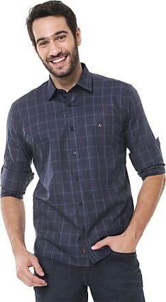 Aramis Camisa Aramis Slim Fit Xadrez Azul