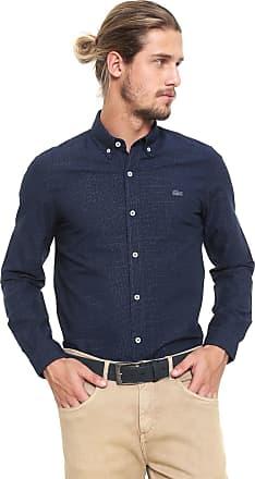 f9a1c3bd7c5 Lacoste Camisa Lacoste Reta Logo Azul-marinho