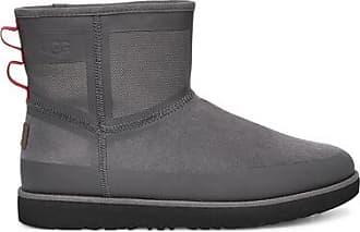 UGG Mens Classic Mini Urban Tech Waterproof Boot in Charcoal, Size 10, Suede