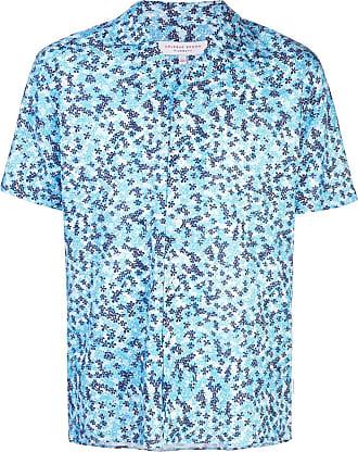 Orlebar Brown Camisa mangas curtas com estampa - Azul