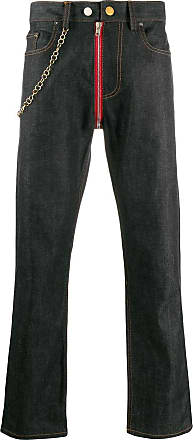 Zilver mid-rise chain detailed jeans - Blue