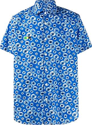 Department 5 Camisa mangas curtas com bordado - Azul