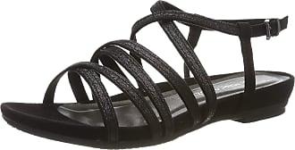 Marco Tozzi Womens 2-2-28106-22 Ankle Strap Sandals, Black (Black Comb 098), 6.5 UK
