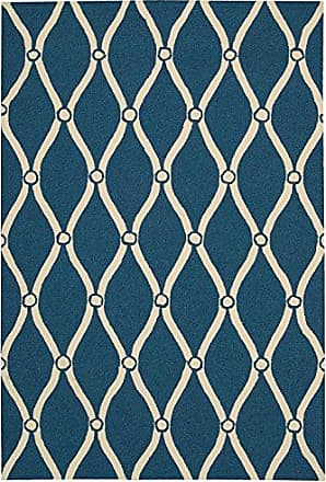 Nourison Rug Squared Maui Indoor/Outdoor Area Rug (MAU02), 3-Feet 6-Inches by 5-Feet 6-Inches, Navy