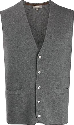 N.Peal cashmere Carnaby knitted vest - Grey
