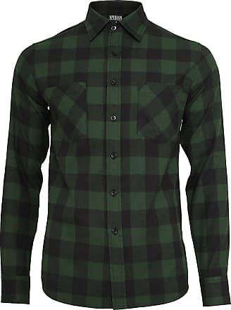 Urban Classics Checked Flanell Shirt - Flanellhemd - schwarz, dunkelgrün