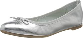 Marco Tozzi Womens 2-2-22121-24 Closed Toe Ballet Flats, Silver (Silver 941), 6 UK