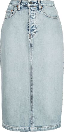 Wardrobe.NYC Saia jeans midi x Levis - Azul