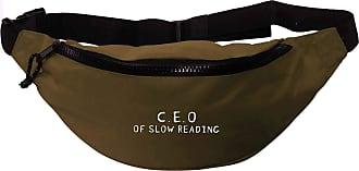 Flox Creative Recycled Polyester Khaki Green Bumbag C.E.O Of Slow Reading