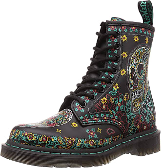 Dr. Martens Womens Boots, Farbe Black, Marke, Modell Womens Boots Smooth Skull Black