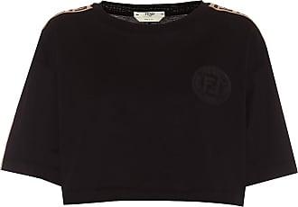 Fendi Cotton-jersey crop top