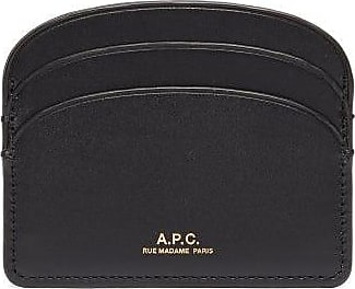 A.P.C. Half Moon Leather Cardholder - Womens - Black