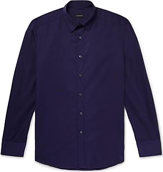 Ermenegildo Zegna Cotton-poplin Shirt - Dark purple