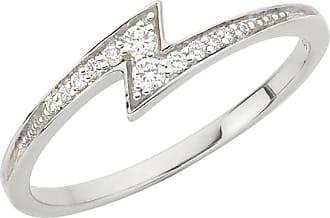 Zoe & Morgan Zap-Weißgold-Diamantring - large | white gold | white - White/White
