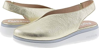 Wonders A-9705 Leather Wedge Shoes Cushioned Insole Size: 4 Color: ORO