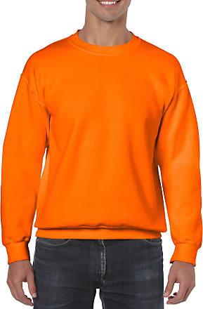Gildan Mens Heavy Blend Sweatshirt Safety Orange XL