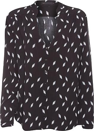 MOB Camisa Manga Longa Estampa Pb Geométrico - Preto