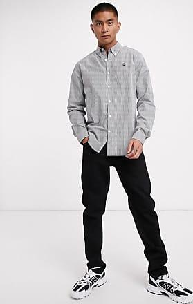 Timberland milford stripe oxford slim long sleeve shirt-Blue