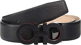 Salvatore Ferragamo Adjustable Belt - 679880 (Black) Mens Belts