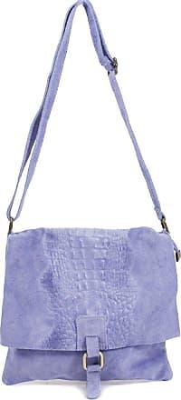 Your Dezire Ladies Suede Leather Snake Skin Cross Body Messenger Bag Women Shoulder Over Bags Handbags (Lilac)