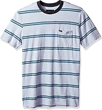 Brixton Mens Hilt Short Sleeve Washed Tailored Fit Pocket Knit Tee, Heather Blue, M