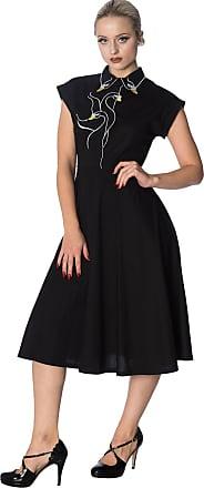 Banned Swan Lake Vintage Retro Long Dress - Black or White - Black/UK-16