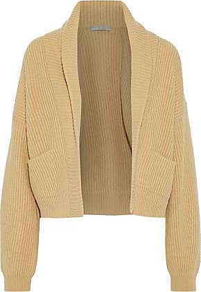 Vince Vince. Woman Ribbed Wool And Cashmere-blend Cardigan Mustard Size XL