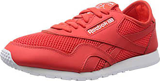 66b8c49b1e443 Reebok Damen Classic Nylon Slim Mesh Laufschuhe Rot (Laser Atomic Red White)