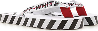 Off-white Flip Flops for Men On Sale, White, Textile, 2019, 6.5 7 8 9.5