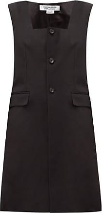 Comme Des Garçons Comme Des Garçons Comme Des Garçons - Square-neck Wool-blend Twill Jacket - Womens - Black