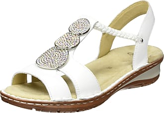 Ara Womens Hawaii T-Bar Sandals, White 76, 2.5 UK