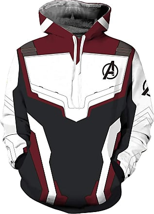 OLIPHEE Mens 3D Hoodie Cosplay Cosume Avengers Endgame Hoodie Super Hero Pullover Advanced Tech Uniform Quantum Realm Zipper Jacket Sweatshirt Cap, 01hoodie W