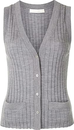 Dion Lee button-down knitted vest - Grey