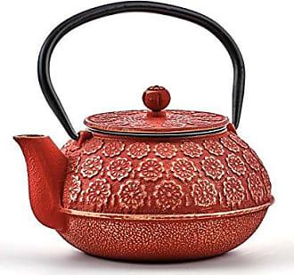 Old Dutch International 1032RG Cherry Blossom Teapot, 22 oz, Red/Gold