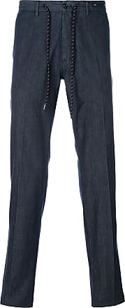PT01 drawstring straight trousers - Blue