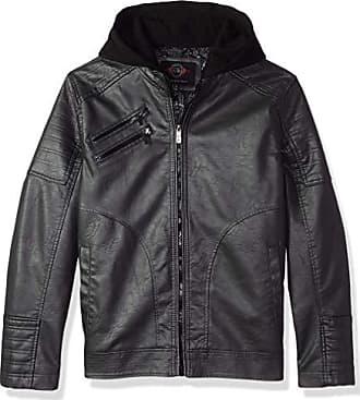 Urban Republic Mens Faux Leather Jacket, darkcharcoal, S