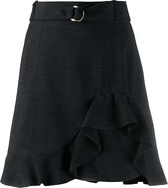 Sandro Amy ruffled mini skirt - Black