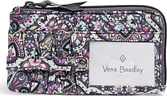 Vera Bradley Womens Signature Cotton RFID Ultimate Card Case Wallet, Bonbon Medallion, One size