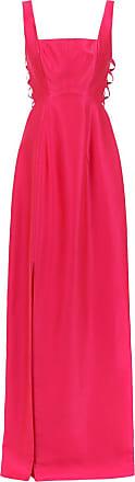 Tufi Duek Vestido longo com trançado - Rosa