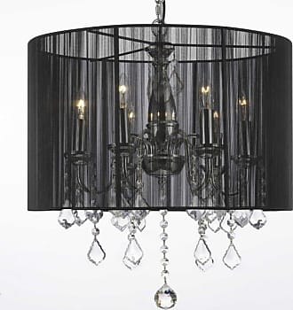 Gallery T40-628 6 Light 1 Tier Wrought Iron Chandelier with Plug-in
