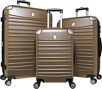 World Traveler Expedition 3-Piece Hardside Spinner Luggage Set-Champagne
